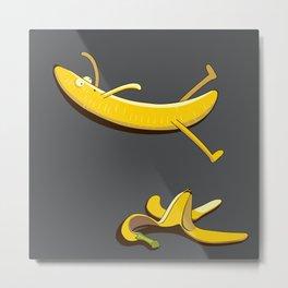 Banana Slip Metal Print