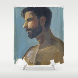 BRAD, Semi-Nude Male by Frank-Joseph Shower Curtain