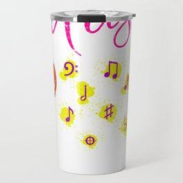 Treble Clef Music Travel Mug