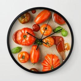 Tomatoes for tomato ketchup Wall Clock
