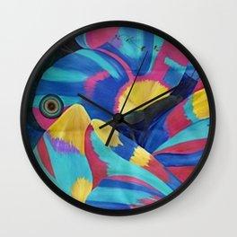 Butterfly Fish Birds Wall Clock