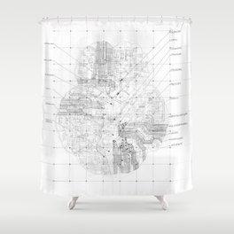 Cerebral Shower Curtain
