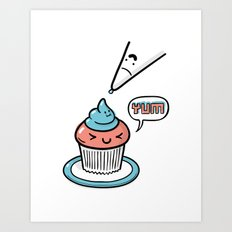Friends Go Better Together 5/7 - Cupcake and Icing Art Print