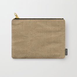 Brown Wrapping Paper Background Carry-All Pouch