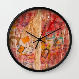 The Red Wall Wall Clock
