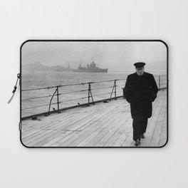 Winston Churchill At Sea Laptop Sleeve
