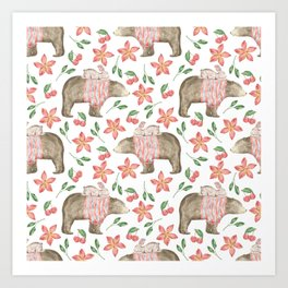Bear Pattern #7 Art Print