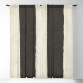 White Black Blackout Curtain