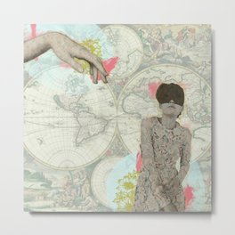 Feminine Collage I Metal Print