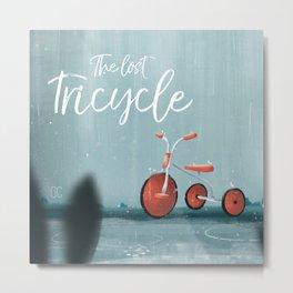 The Lost Tricycle Metal Print