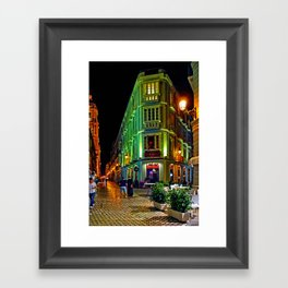 Night Walk - Malaga Framed Art Print