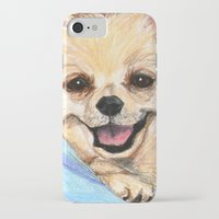 pomeranian iPhone & iPod Cases featuring Preppy Pomeranian by Britanee LeeAnn Sickles
