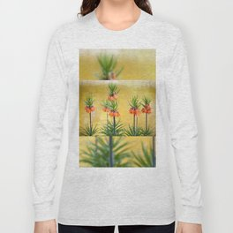 Orange lily flowers Fritillaria imperialis Long Sleeve T-shirt