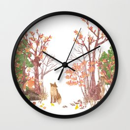 Hide and seek | Miharu Shirahata Wall Clock