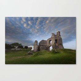Pennard castle Swansea Canvas Print