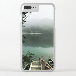 Misty lake Clear iPhone Case