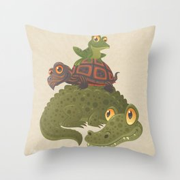 Swamp Squad Throw Pillow