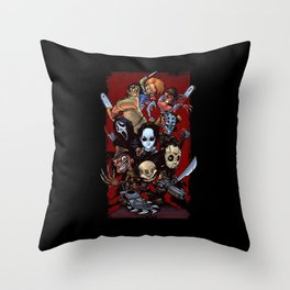 Horror Guice Throw Pillow