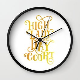 High Lady Day Court - ACOTAR Wall Clock