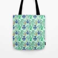 persian Tote Bags featuring Persian Pots by Katie L Allen