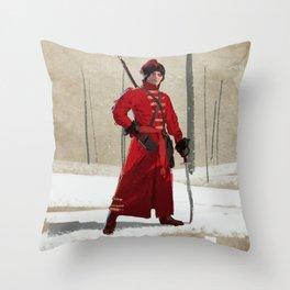 Russian Cossack Throw Pillow