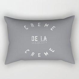 Creme de la Creme - joie de vivre Grey Rectangular Pillow