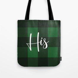 His Pattern (Green) Tote Bag
