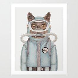 Scuba Cat Art Print