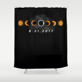 Total Solar Eclipse August 21 2017 Shower Curtain
