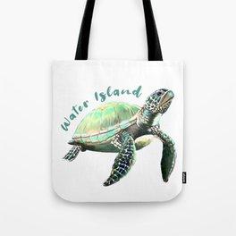 Water Island Turtle Tote Bag