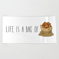 Life Is a Bag of... Beach Towel