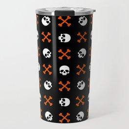 Skull Pattern | Bones Heavy Metal Cemetery Travel Mug