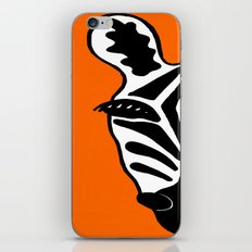 Two Face Zebra iPhone & iPod Skin