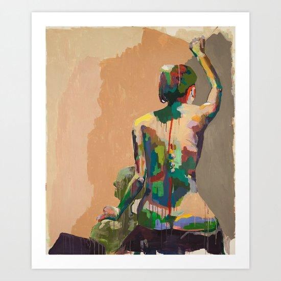 Girl's Back Art Print