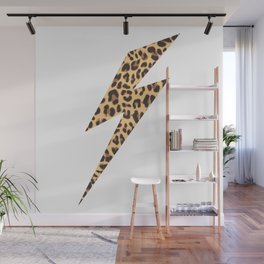Wild Thing Leopard Lightning Bolt Wall Mural