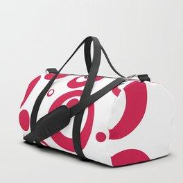 Circles Dots Bubbles :: Geranium Inverse Duffle Bag