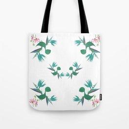 Magical Minimalism Tropical Floral Dinosaur Print Tote Bag