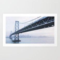 Under the Bay Bridge Art Print