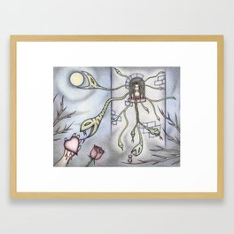 Rapunzel Medusa Framed Art Print
