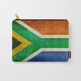 """Flag of South Africa - retro style """"Banner"""" version Carry-All Pouch"""