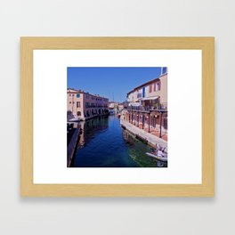 French canal Framed Art Print