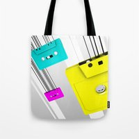 cassette Tote Bags featuring Cassette by Delaney Digital