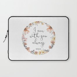 I Am With You Always Laptop Sleeve