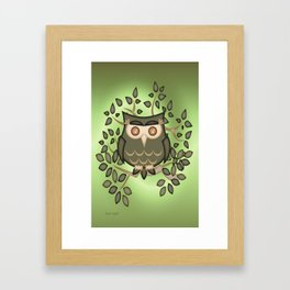 The Wise Old Owl .. fantasy bird Framed Art Print