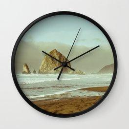 Oregon Coast, A Cannon Beach Dream Wall Clock
