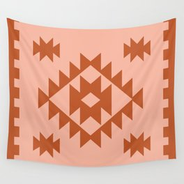 Zili in Peach Wall Tapestry