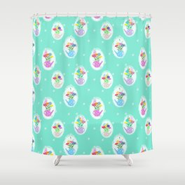 jars with flowers Shower Curtain