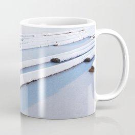 Snow frozen lake, snow covered logs, frozen, Lake, landscape Coffee Mug