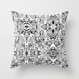 Red cabbage repeat Throw Pillow