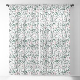 Christmas twigs and berries  Sheer Curtain